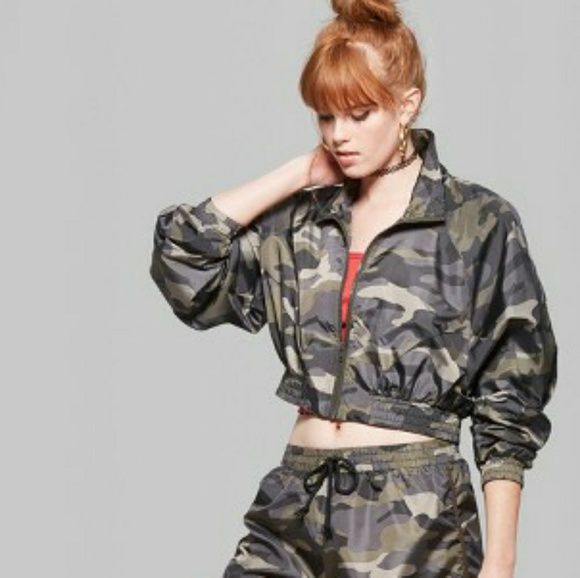 ff97a336631 Wild Fable Camo Zip-Up Windbreaker